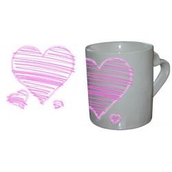 Mug Love Coeur Trio Rose