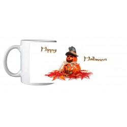 Mug Halloween citrouille feuilles