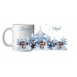 Mug Noël bonhommes de neige
