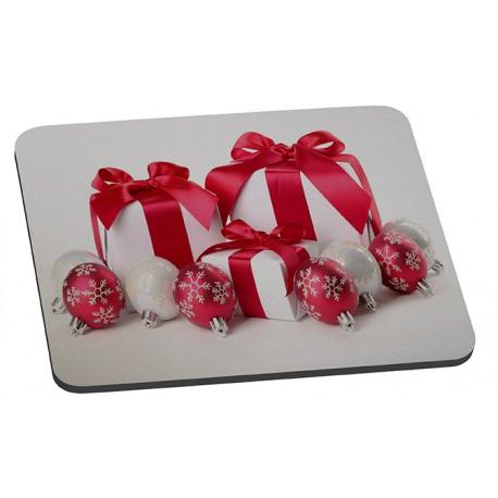 """Tapis de souris """" Les Cadeaux et boules de Noël """""""