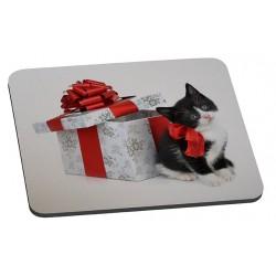 """Tapis de souris """" Le Cadeau et le chat """""""