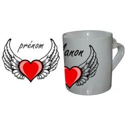 Mug Love Coeur Aillé