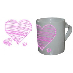 Mug Love Coeur Trio Rose