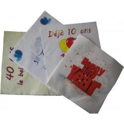 Serviettes en papier personalisables