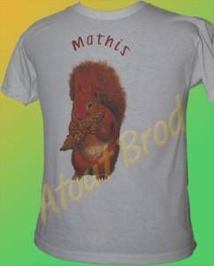 T-Shirt marqué en impression numérique pour un anniversaire d'enfant par Atout Brod