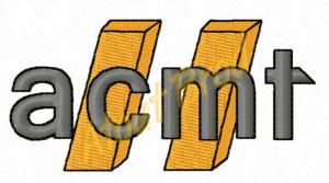 Visuel du logo à broder pour la société acmt, par Atout Brod Toulouse , Mondonville