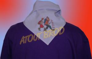 Marquage réalisé en impression numérique sur textile pour un club de marche Mondonvillois par ATOUT BROD Toulouse, Mondonville
