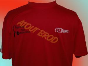 Logo du club du Tennis club de Mondonville floqué sur des t-shirts par ATOUT BROD Toulouse, Mondonville