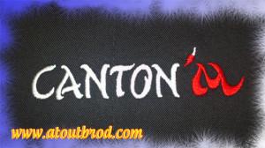 Création et broderie d'un logo : CANTON'M